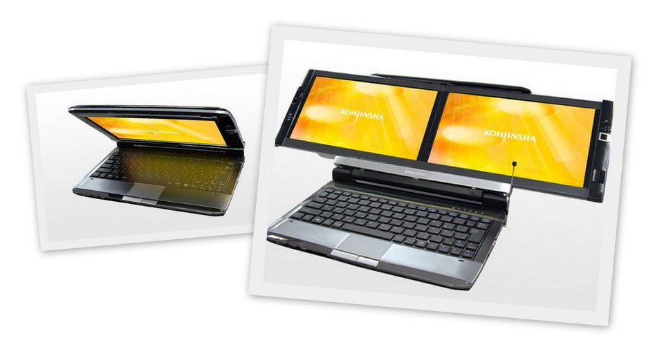 Dual display monitors for your notebook from Kohjinsha