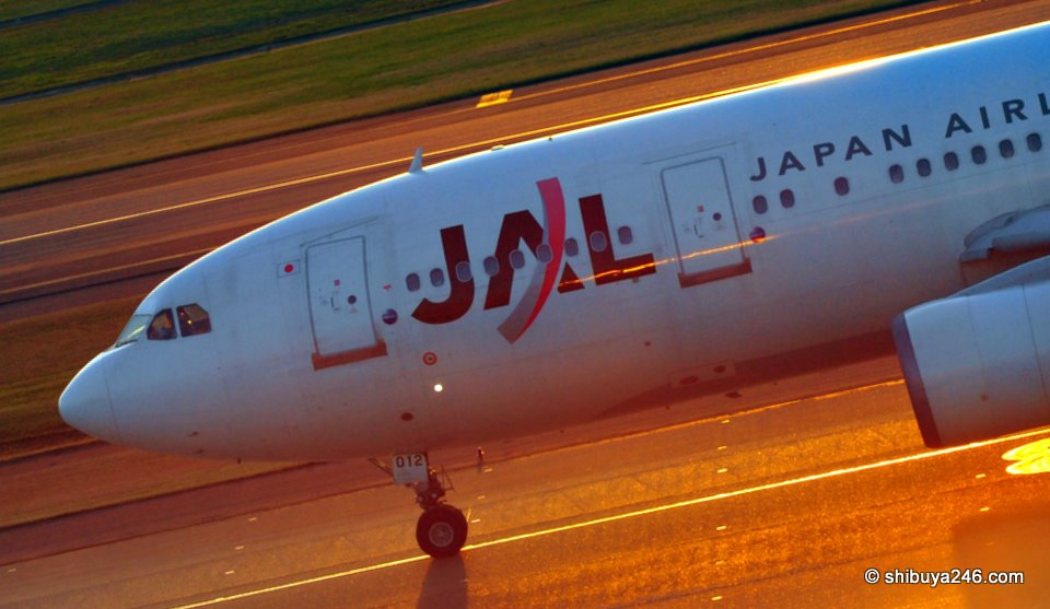 JAL's fortunes on the way down