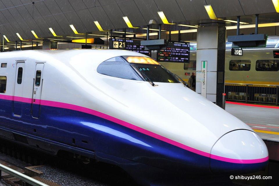 Hayate Shinkansen, Tokyo Station