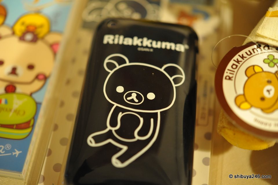 The black version of the Rilakkuma iPhone case. This one is no longer in store, but on the back of my iPhone ^_^.