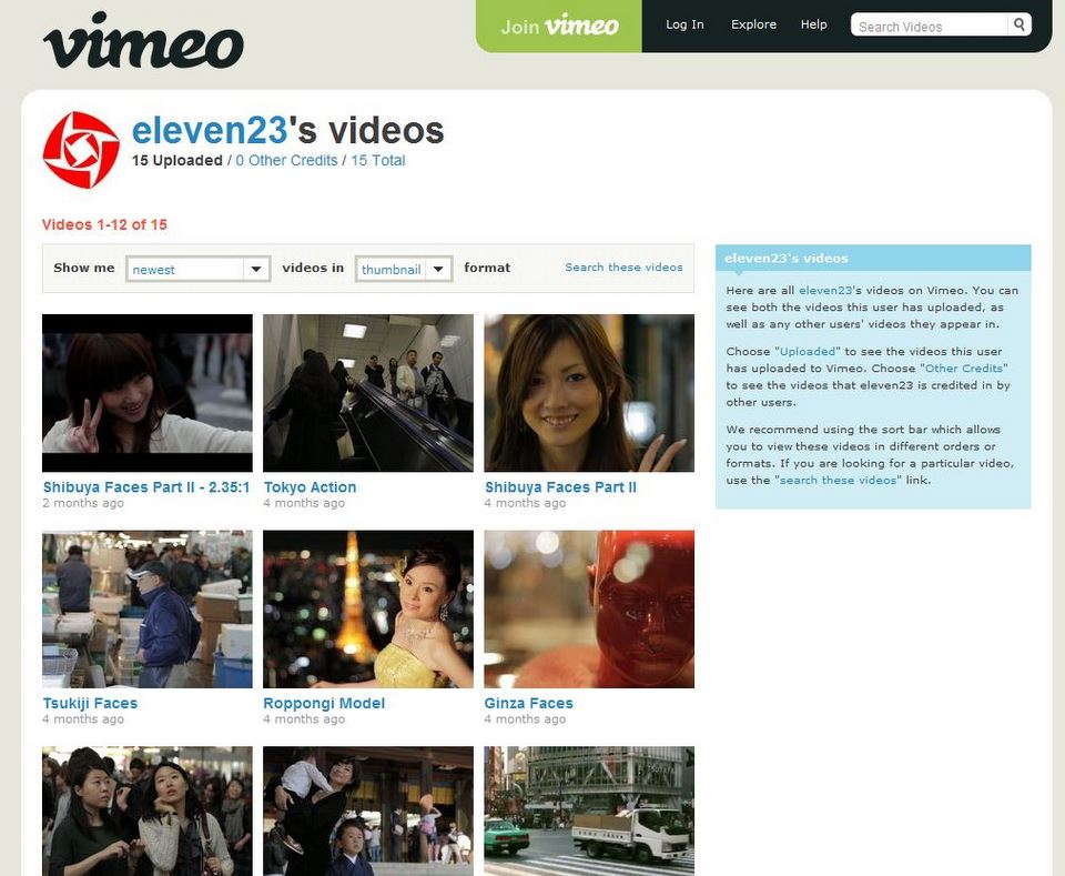 eleven23 on vimeo showing great scenes of Tokyo