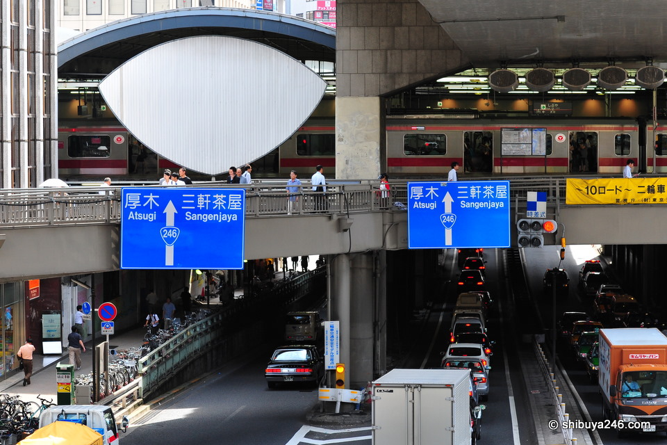 Route 246, in front of Shibuya station