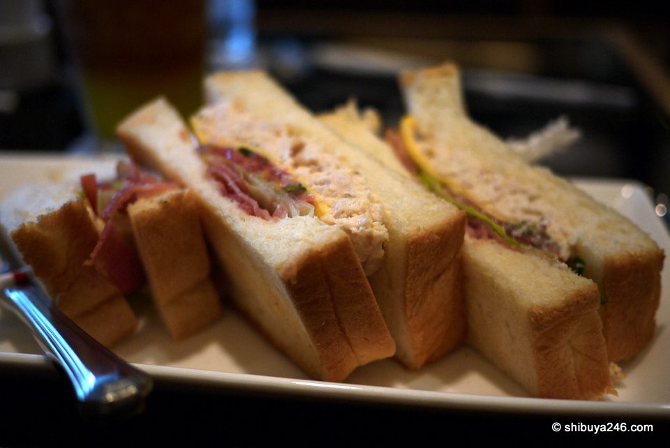 Nice sandwiches to go with the tea