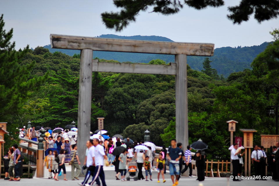 The entrance way to Ise Jingu (Naiku)