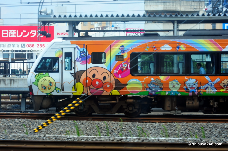 Anpanman and friends traveling somewhere outside Okayama, Japan
