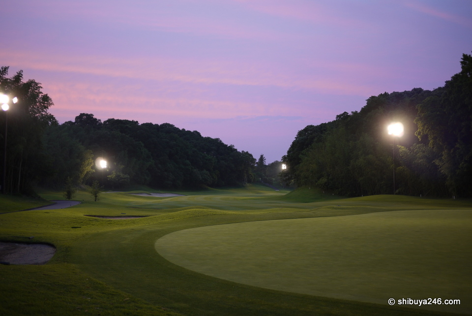 As the sky gets darker and the lights come on, the course takes on a different type of shape