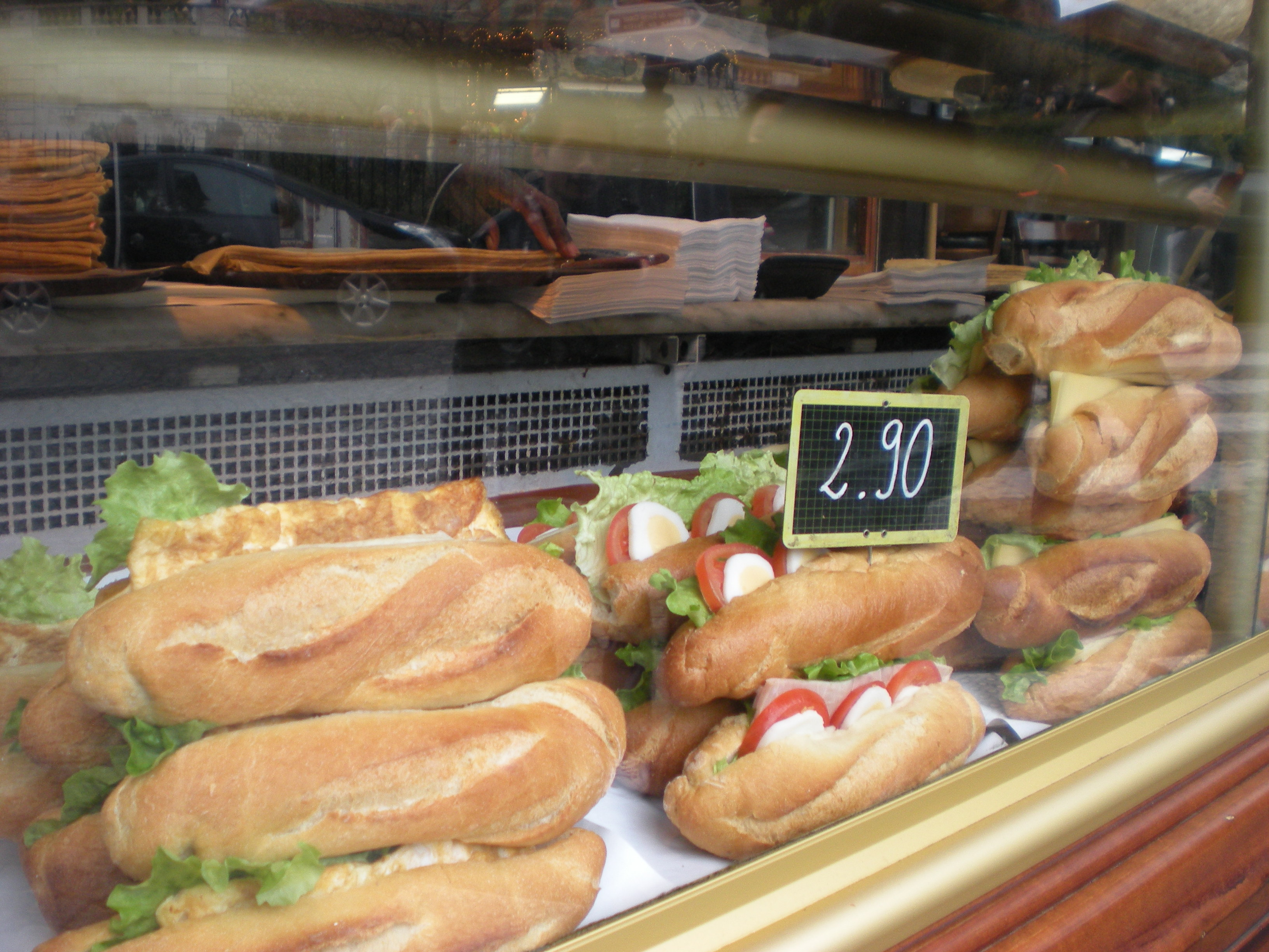 Walk down the street while you eat a sandwich, you can feel like a Parisienne!