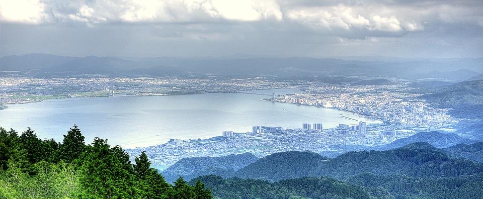 Lake Biwa from Mount Hiei