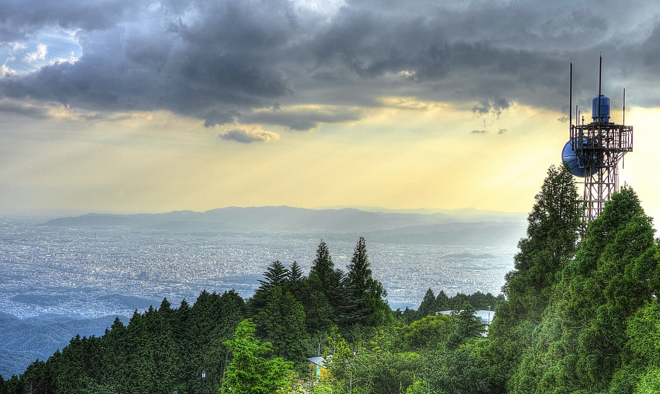 Sunset on Kyoto from Mount Hiei
