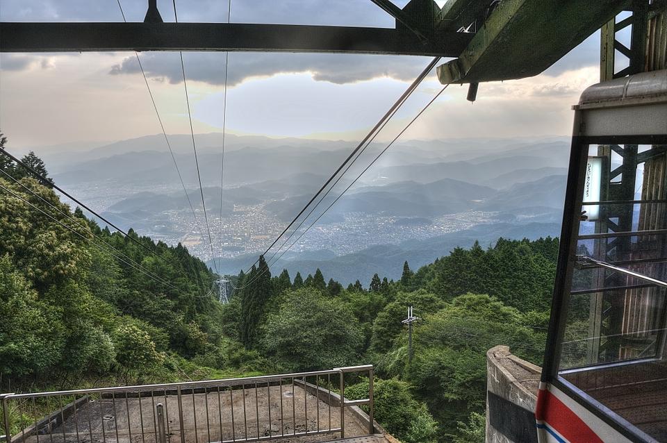 Ropeway on Mount Hiei