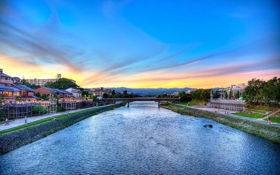 Kyoto Sunset - Kamogawa River