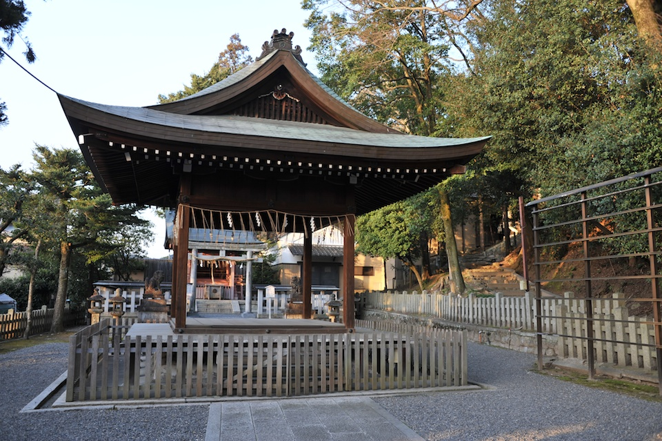 At the base of Yoshida Jinja