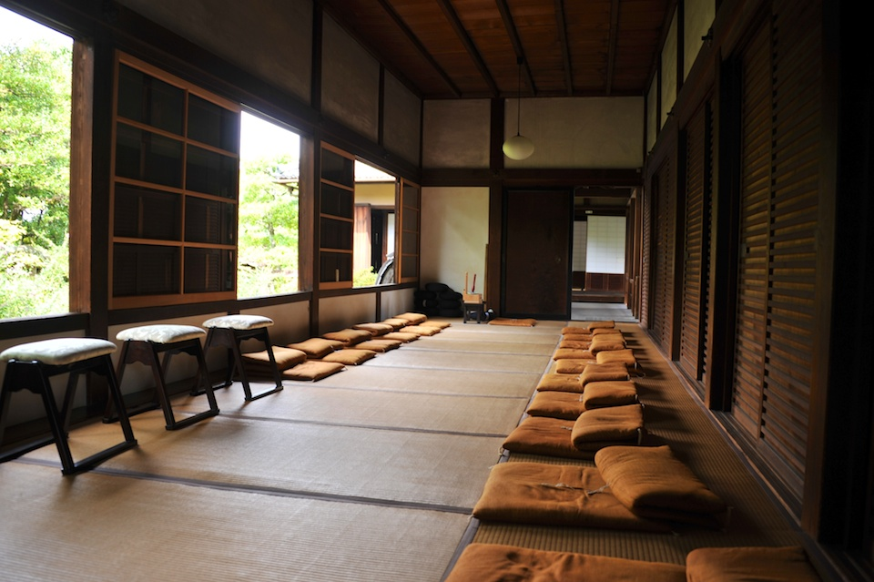 The zazen meditation room