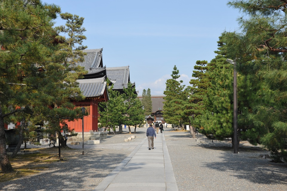Easy to walk pathways with temple buildings all around